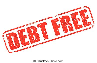 DEBT FREE red stamp text