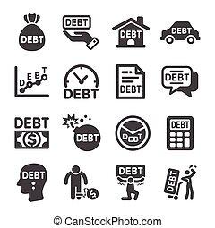 debt icon set