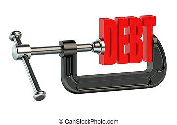 Debt in clamp