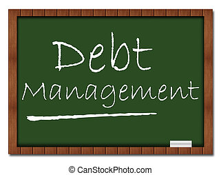 Debt Management - Classroom Board - Image with Debt...