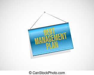 debt management plan banner sign