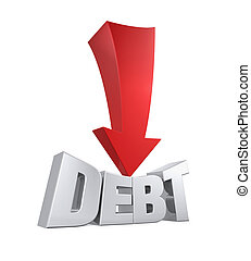 Debt Reduction Concept