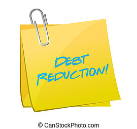 Debt reduction post illustration design over a white ...