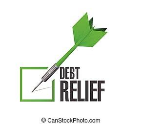 debt relief check mark illustration