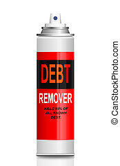 Debt relief concept. - Illustration depicting a single...