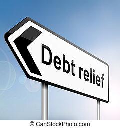 Debt relief concept. - illustration depicting a sign post ...