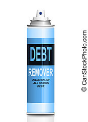 Debt relief concept. - Illustration depicting a single ...