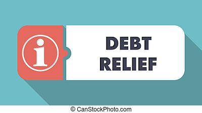Debt Relief Concept in Flat Design.