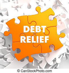 Debt Relief on Orange Puzzle. - Debt Relief on Orange Puzzle...