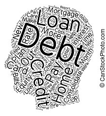 Debt Relief Part 3 text background wordcloud concept