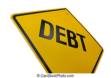 Debt Road Sign