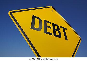 Debt Road Sign