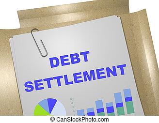debt settlement business concept
