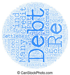 Debt Settlement The Truth text background wordcloud concept