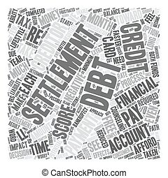 Debt Settlement What You Need To Know text background wordcloud concept
