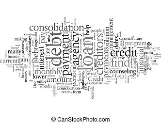 Debt Solutions You Could Try text background wordcloud concept