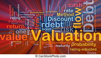 Debt valuation background concept glowing - Background...