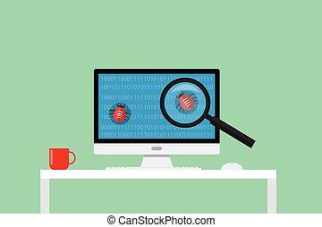 debugging, ricerca, trovare, errori del software