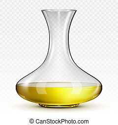 decanter for wine on a transparent background