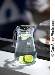 Decanter with lime water