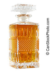 Decanter with whiskey - Crystal decanter with whiskey...