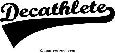 Decathlete word retro