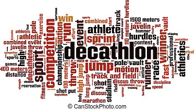 Decathlon [Converted].eps - Decathlon word cloud concept....