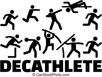 Decathlon pictogram set