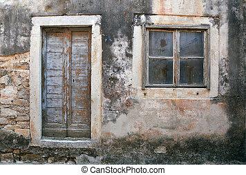 Decayed house Croatia