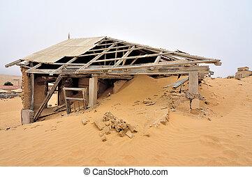 Decaying architecture at Kolmanskop