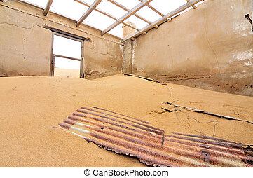 Decaying architecture at Kolmanskop