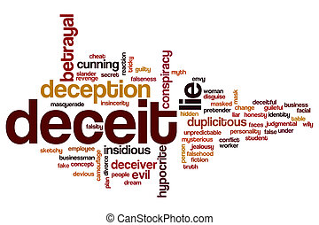 Deceit word cloud concept