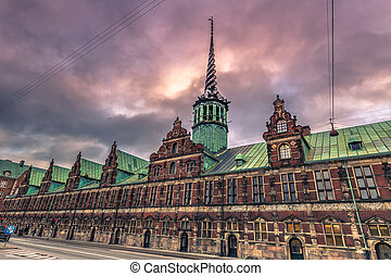 December 05, 2016: The old Stock Exchange of Copenhagen, Denmark