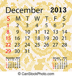 december 2013 calendar albino snake skin