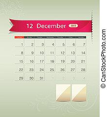 December 2013 calendar ribbon