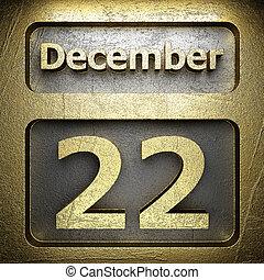 december 22 golden sign