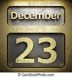 december 23 golden sign