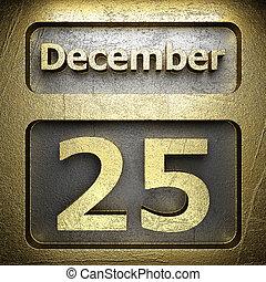december 25 golden sign
