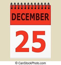 december 25 on the calendar