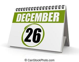 December 26, Boxing Day - Hi-res original rendered computer...