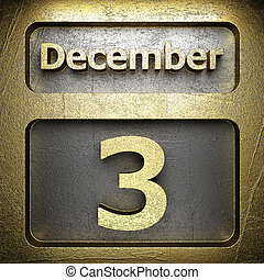 december 3 golden sign