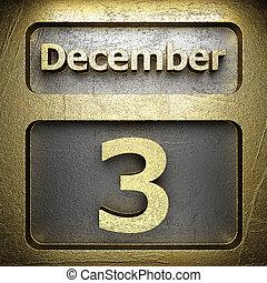 december, 3, gylden, tegn
