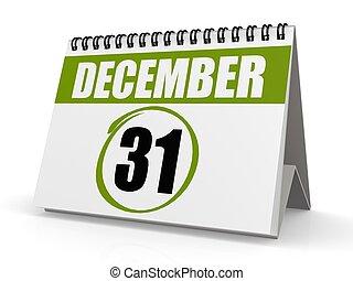 December 31, New Year eve - Hi-res original rendered...