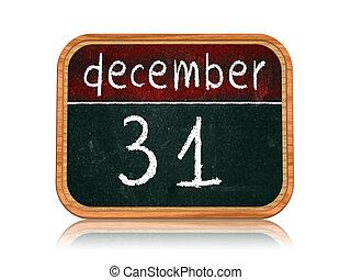 december 31 on blackboard banner