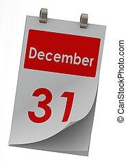 December 31 - Rendered artwork with white background