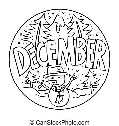 December Coloring Pages for Kids