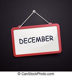 December hanging sign