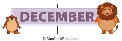 december, leeuw, otter, meldingsbord