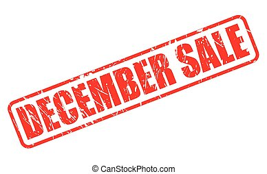 DECEMBER SALE red stamp text