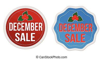 December sale stickers set
